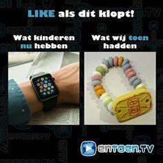 Dit is de bittere waarheid...⠀ ⠀ #jeudsentiment #nostalgie #vroeger #applewatch #iwatch
