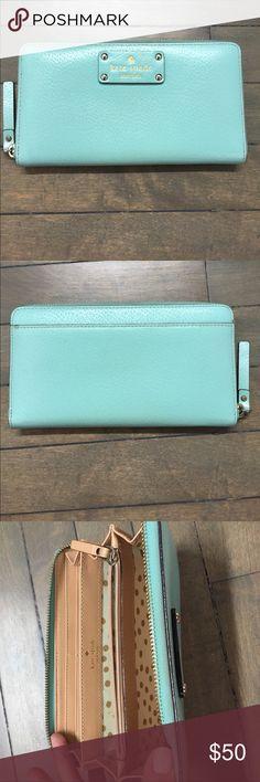 Kate Spade Blue Wallet Kate Spade Large Teal Blue Wallet kate spade Bags Wallets