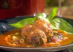 Food Network invites you to try this Meatball Soup recipe from Emeril Lagasse.