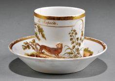 A Paris Porcelain Cup And Sauce, J. Lefebvre