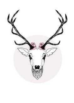 Poster med hjort från MHMP.