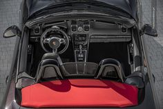 Porsche Boxster (981) S black and red. Click for full gallery. #porsche #boxster