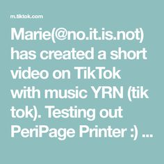 Marie(@no.it.is.not) has created a short video on TikTok with music YRN (tik tok). Testing out PeriPage Printer :) #peripage #printer #a6 #journaling #bulletjournal #scrapbooking #mustbuy #gift #stickers Tween Gifts, Tik Tok, Journaling, Printer, Scrapbooking, Stickers, Videos, Music, Anna