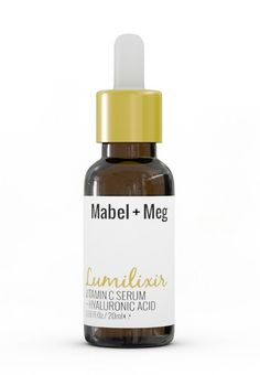 Mabel and Meg's Vitamin C and Hyaluronic Acid Lumilixer Serum gives you wonderfully hydrated, bright and beautiful skin.  Best used after cleansing and toning, right before moisturizing.