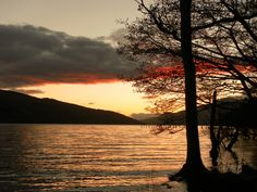Beautiful Sunset, Loch Tay