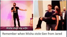 Remember when Misha stole Gen from Jared