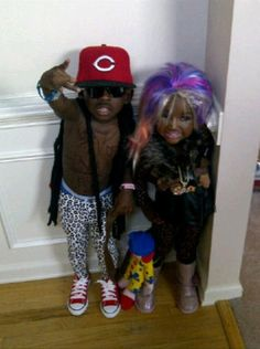 If it wasnt completely inappropriate, R  G would go trick or treating as Lil Wayne and Nicki Minaj this year!