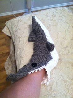 Crochet Shark Adult Teen Slipper Socks by NightAndDayCrochet, $39.99