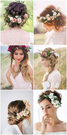 Casamento na Primavera - Do Convite a Decoração - Blumenkranz , Casamento na Primavera - Do Convite a Decoração Frühlingshochzeit - Von der Einladung zur Dekoration Dream. Elegant Wedding Hair, Wedding Hair And Makeup, Wedding Hair Accessories, Boho Wedding, Bridal Hair, Hair Wedding, Wedding Bride, Wedding Dress, Bohemian Chic Weddings