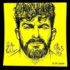 Post-it Portrait by Christophe LARDOT Happy Birthday Pablo ;-) @pablorobledo_co #gingerbeard #postitart #postitportrait #postitportraitbychistophelardot #portrait #portraiture #portraitoftheday #sketch #art #artwort #penart #pencilsketch #sketching #beard #beardedmen #bearded #beardgang #face #wink #fullfrontal #fashionillustration #manstyle #yellow #beardvillain #yellowsquare #artwork #arte #arty #instaart #instawoof ...repinned für Gewinner!  - jetzt gratis Erfolgsratgeber sichern ww...