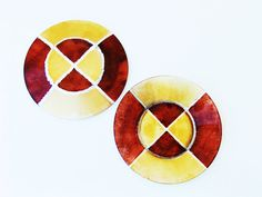 "EvaArtWorld on Etsy 1 Set of Dessert ""Honey Envy"" Plates: 8 pieces  Dessert glass plates high quality, round and hand painted. Signed by designer. Multicolored: golden and amber, with non-toxic paint. Safe in a dishwasher at low temperature.    Size 8"" x 8""    $88 https://www.etsy.com/listing/221802587/updated-set-of-8-dessert-plates-honey?utm_source=Pinterest&utm_medium=PageTools&utm_campaign=Share   Thank you for visiting!"