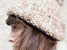 DIY tutorial: Knit a Mottled Beanie  via DaWanda.com