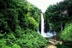 The Magnificent View of Ma. Christina Falls in Iligan City, Philippines...