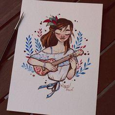#illustration #ukelele #music #watercolour #traditionalart #sketchoftheday #artistoninstagram