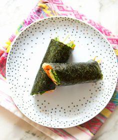 nori veggie wraps - mein alltagsthema - ein haus in den hügeln - Food - Wrap Wrap Recipes, Veggie Recipes, Whole Food Recipes, Vegetarian Recipes, Cooking Recipes, Healthy Recipes, Vegetarian Sandwiches, Going Vegetarian, Vegetarian Breakfast