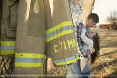 Firefighter Engagement Photos by Lizard Nickel Photography