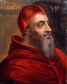 Sebastiano Luciano called del Piombo, Studio of  Giulio de''Medici (1478 - 1534) Pope Clement VII 1530c.