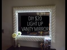 DIY Light Up Vanity Mirror for $20 (with remote) - YouTube