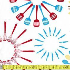 Happy Home Utensils White Popular Pokemon, Kona Cotton, 9 And 10, Utensils, Happy, Prints, Fabrics, Home, Design
