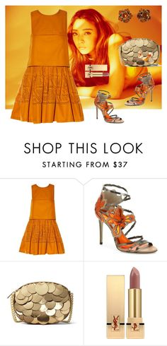 """""""Pumpkin Color"""" by arara-sustentavel ❤ liked on Polyvore featuring Fendi, Jimmy Choo, MICHAEL Michael Kors and Yves Saint Laurent"""