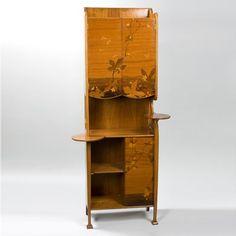 French Art Nouveau Cabinet by Majorelle