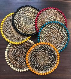 Our beaded coasters are perfect for Mother's Day!  #calaisio #mothersday #beadedcoasters Photo: Adorn Goods