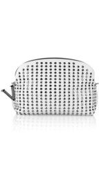 VersaceStudded nappa leather clutch