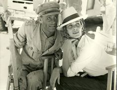 Peter O'toole and Sian Phillips on set of Lawrence of Arabia