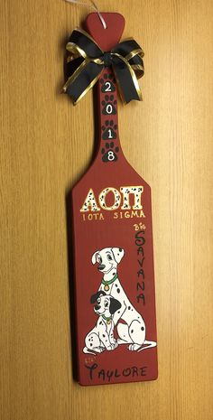 Sorority Paddles, Sorority Life, Big Little Paddles, 101 Dalmations, Banners, Crafts, Ideas, Manualidades, Banner