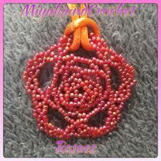 Miyuki&CrochetRosaes:  COLGANTE FLOR  Nuevo diseño . Colgante en forma d...