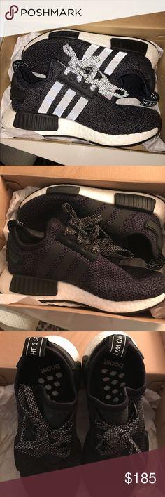 adidas nmd r1 primeknit black shoes adidas shoes kids size 6