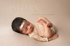Newborn Romper Sewing Pattern - Adelynn