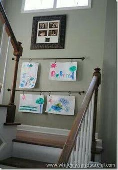 Curtain rods for art displaying
