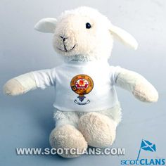 Soft Toy Lamb with Duncan Clan Crest Shirt