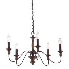 Add a classic, luxurious style to your home and illuminate your room with this Holbrook chandelier. This light boasts a sleek, flowing design coupled with a beautiful Tuscan brown finish.