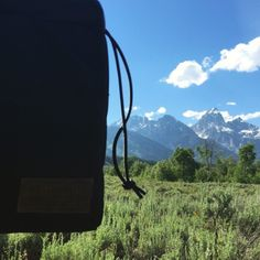 Our NW Camera bag hanging out with the Tetons