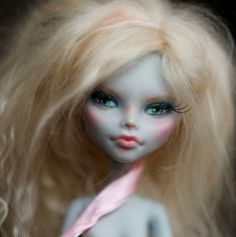 OOAK Monster High Repaint  NUDE Ghoulia Repaint by Theworldofdolls, $115.41