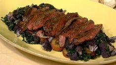 Michael Symon's Grilled Skirt  Steak with Cauliflower Hash
