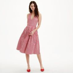 8194fd1e6c MDS Stripes Halter Dress Summer Vacation Style