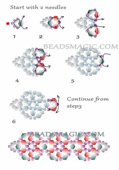 Free pattern for bracelet Queen | Beads Magic - 2 --U need Seed Beads 11/0, Bicone Beads  4 mm 2 colors