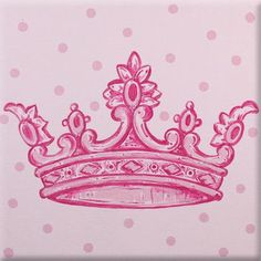 Renditions by Reesa Crown Imagination Square Pink Canvas Art