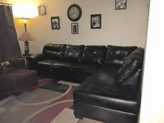 House Furniture, Black Leather, Black Patent Leather, Home Furniture