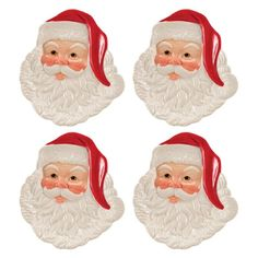 Fitz and Floyd Letters To Santa Canape Plate - Set of 4 - 80-201