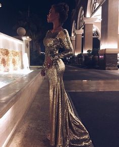 167 USD.Gold Sequin Mermaid Prom Dress,Sexy Evening Dress,Long Sequin Prom Dress,Women Formal Party Gowns