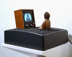 Matters of Faith - Exhibitions Nam June Paik, Buddha Art, Assemblage Art, International Artist, Medium Art, Floating Nightstand, Mixed Media Art, Contemporary Art, Faith
