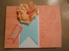 stampin' up  this card was made with milk filters that I big shot cut and scrunched up