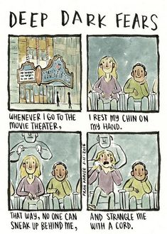 Irrational fears, dark thoughts, and ghost stories from around the world. Deep Dark Fears tells stories about the creepy things that pop into people's heads and… Fran Krause, Scary Creepy Stories, Scary Stuff, Funny Stuff, Dark Nursery, Fear Book, Deep Dark Fears, 4 Panel Life, Dark Comics