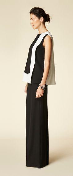 0c8e01a77db3 Carolina Herrera black and white blouse. Cruise 2017 collection Vestito  Bianco
