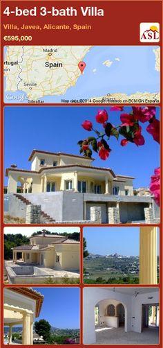 4-bed 3-bath Villa in Villa, Javea, Alicante, Spain ►€595,000 #PropertyForSaleInSpain