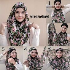This hijab looks so beautiful for both summer and winter, the shades of the floral patterns work for actually any season, this hijab look, loose as it is helps getting a full coverage of your chest area and looks a… Abaya Fashion, Muslim Fashion, Fashion Outfits, Modest Fashion, Fashion Styles, How To Wear Hijab, How To Wear Scarves, Scarf Styles, Hijab Styles